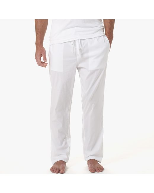 James Perse | White Laundered Cotton Pajama Pant for Men | Lyst