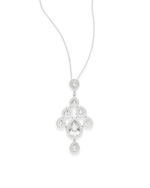 Swarovski | Metallic Sensation Crystal Pendant Necklace | Lyst