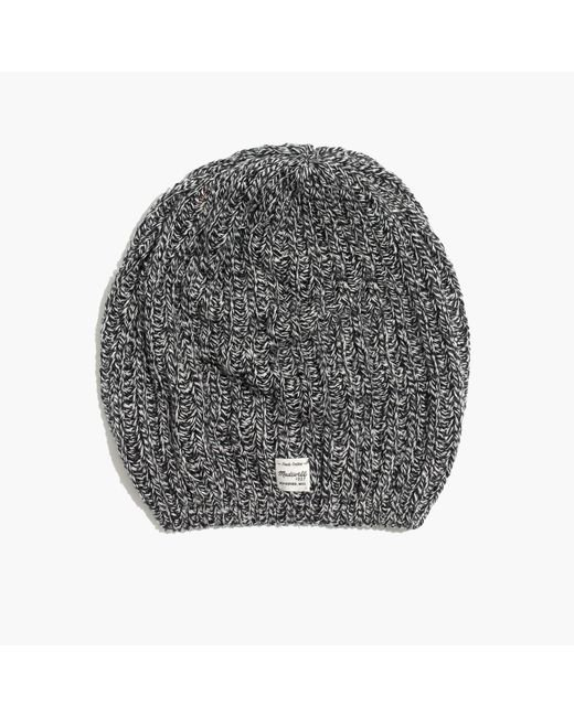 Madewell | Gray Softest Ribbed Beanie | Lyst
