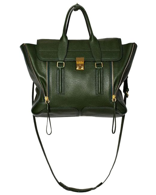 3.1 Phillip Lim | Green Pashli Medium Zip Satchel Bag | Lyst