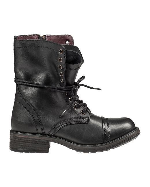 steve madden tropa 2 0 leather combat boots in black lyst
