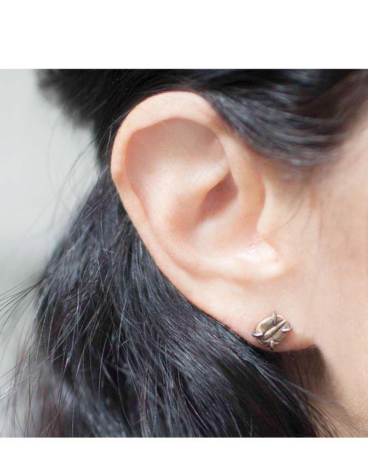 Melissa Joy Manning | Metallic Bronze Cast Trilobite Stud Earrings | Lyst
