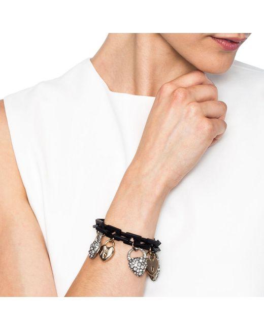 Lulu Frost | Metallic Blackheart Charm Bracelet | Lyst