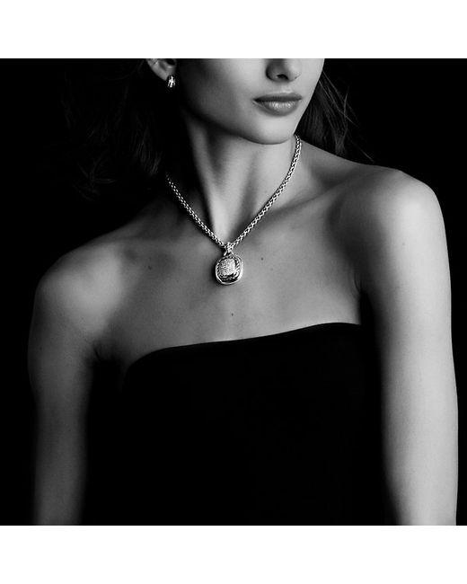 David Yurman   Metallic Cable Classics Earrings With Diamonds In 18k Gold   Lyst