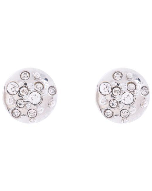 Karen Millen | Metallic Sprinkle Crystal Stud Earrings | Lyst