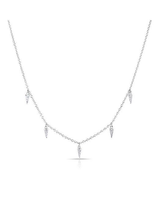 Anne Sisteron   Metallic 14kt White Gold Diamond Sistine Spike Necklace   Lyst