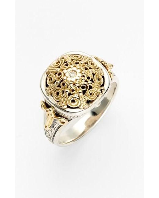 Konstantino   Metallic 'classics' Two-tone Diamond Ring   Lyst