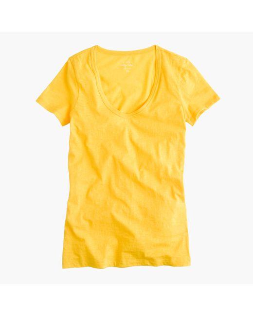 J.Crew | Yellow Vintage Cotton Scoopneck T-shirt | Lyst