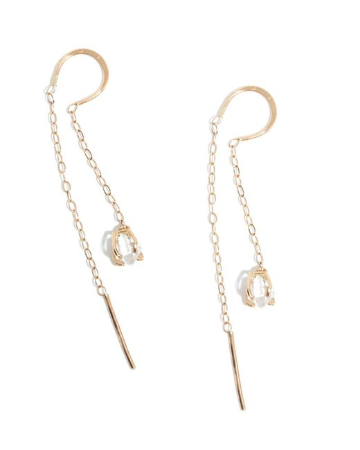 Melissa Joy Manning | Metallic Herkimer Diamond Horseshoe Chain Earrings | Lyst