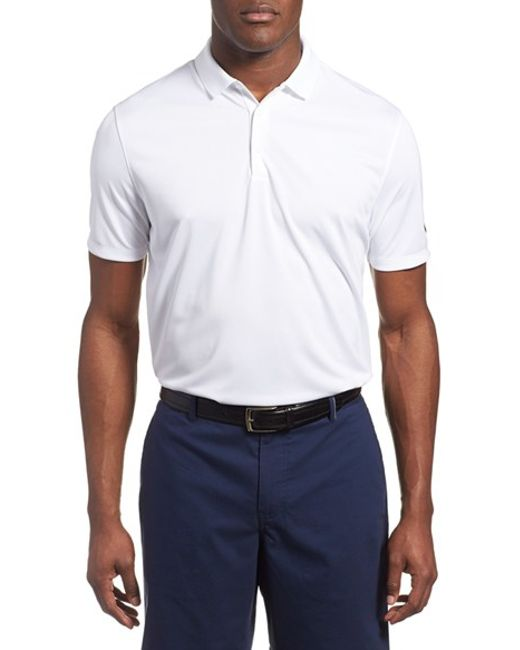 Nike 39 Victory Dri Fit Golf Polo In White For Men Lyst