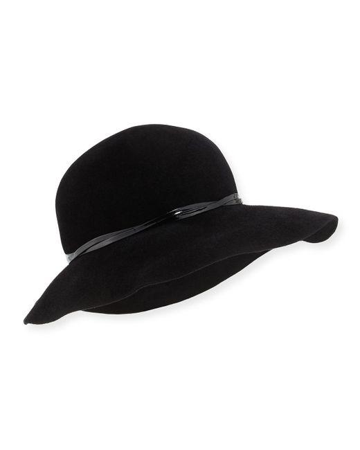 Eric Javits   Black Moxi Rabbit Felt Hat   Lyst
