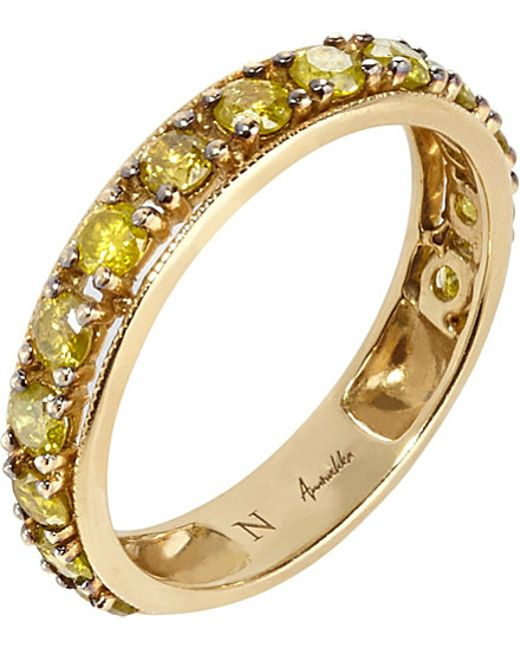 Annoushka | Dusty Diamonds 18ct Yellow-gold And Diamond Eternity Ring | Lyst
