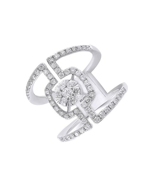 Effy | Pave Classica Diamond And 14k White Gold Ring, 0.9 Tcw | Lyst