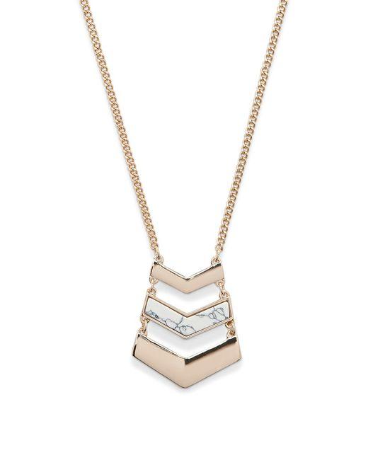 Forever 21 | Metallic Chevron Pendant Necklace | Lyst