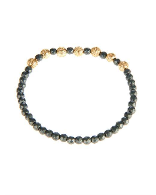 Luis Morais | Black Yellow-Gold And Hematite Bead Bracelet for Men | Lyst