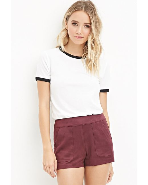 Forever 21 | Purple Faux Suede Shorts You've Been Added To The Waitlist | Lyst
