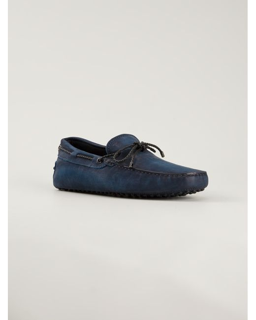 Tod's | Blue City Gommino Tube Driving Shoe for Men | Lyst
