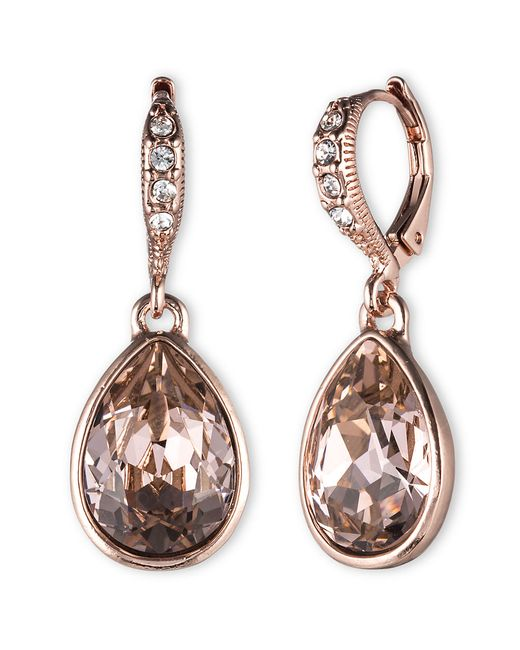 Givenchy | Multicolor Glass Stone Drop Earrings | Lyst