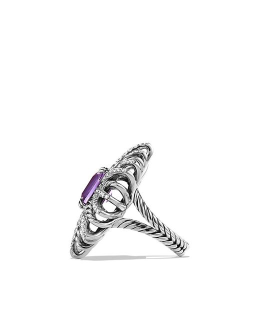 David Yurman | Metallic Ring With Amethyst And Diamonds | Lyst