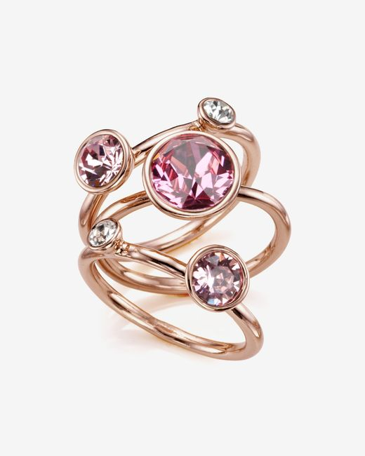 Ted Baker Jewel Cluster Ring In Pink Light Pink Lyst