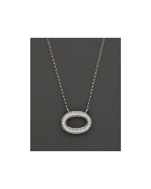 KC Designs | Pave Diamond Oval Pendant In 14k White Gold, .25 Ct. T.w. | Lyst