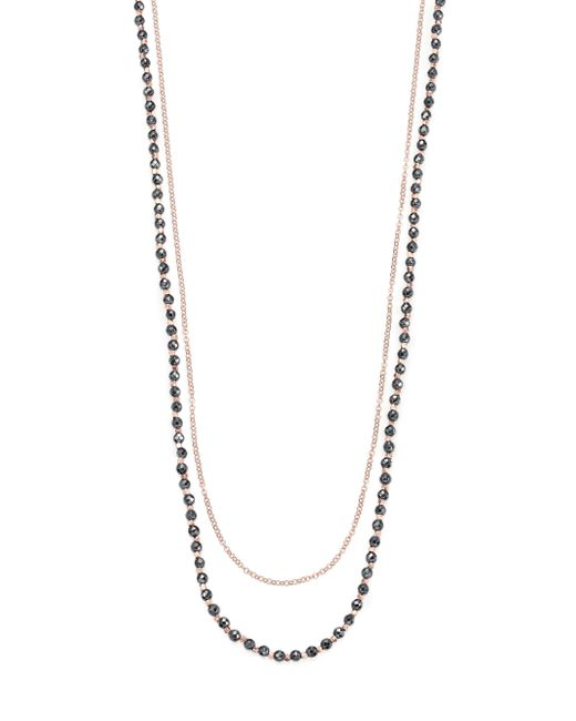 Astley Clarke | Pink Biography Hematite & White Sapphire Sun Beaded Necklace | Lyst