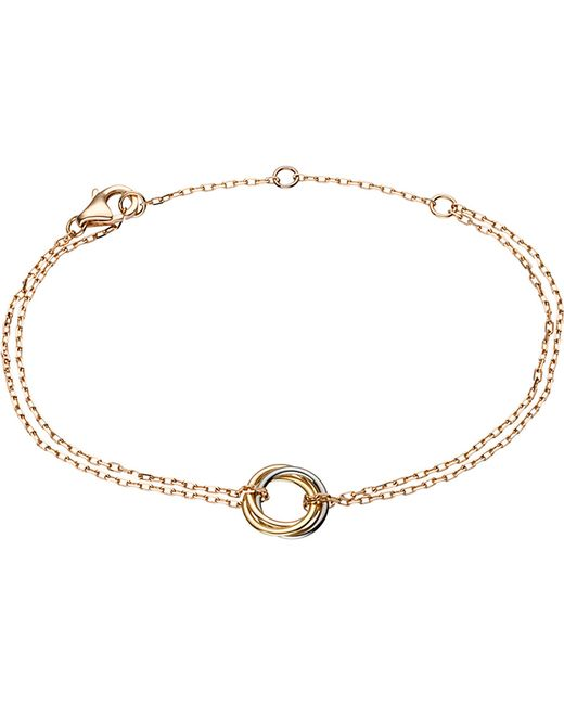 Cartier | Metallic Sweet Trinity 18ct Gold Bracelet | Lyst
