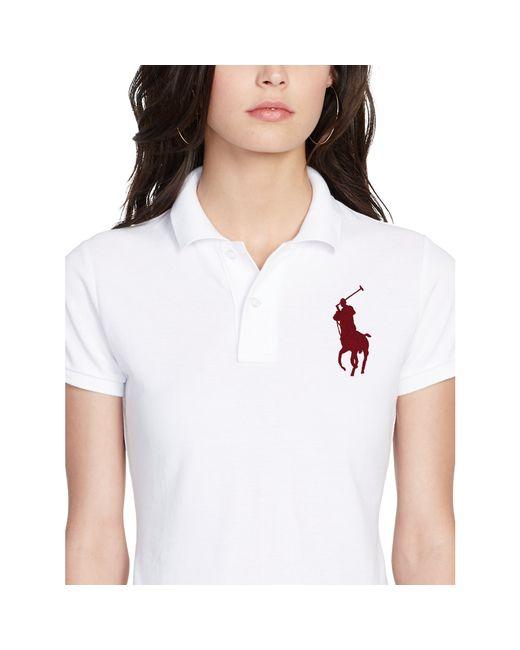 Polo Ralph Lauren | White Skinny Fit Big Pony Polo Shirt | Lyst