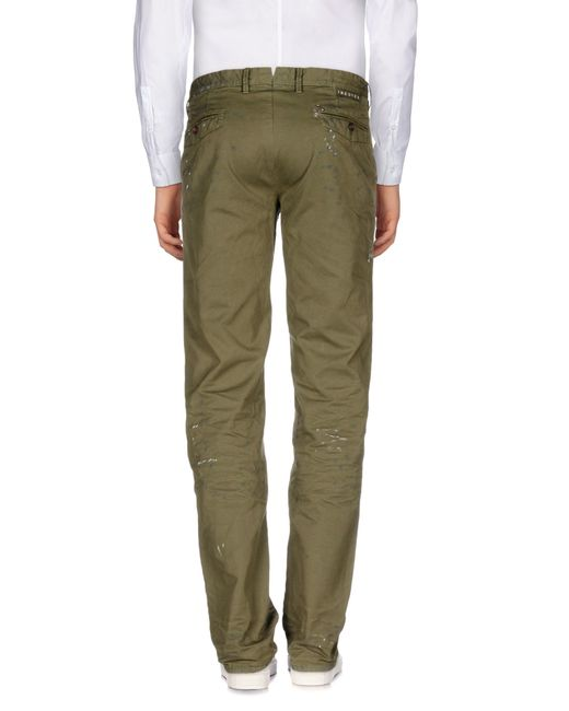 Incotex Red   Green Casual Trouser for Men   Lyst