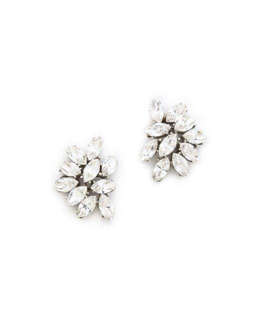 Ben-Amun | Metallic Crystal Cluster Earrings | Lyst