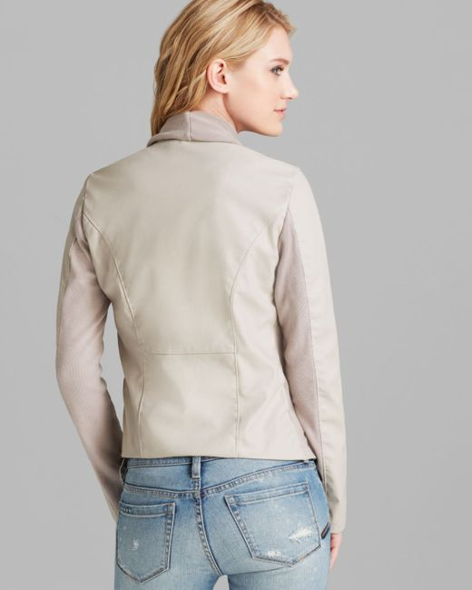 Blank NYC | Brown Jacket - Faux Leather Asymmetric Zip | Lyst