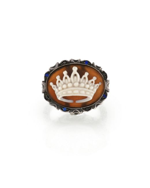 Amedeo | Brown Amedeo Sapphire Crown Cameo Ring | Lyst
