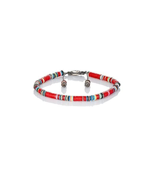 M Cohen | Red Rondelle Bracelet for Men | Lyst
