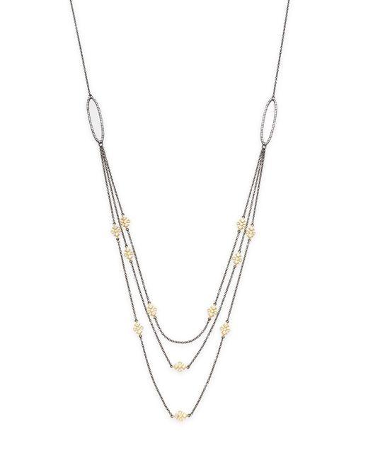 Freida Rothman   Metallic Triple Chain Layered Necklace   Lyst