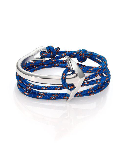 Miansai   Multicolor Half Anchor Cuff Rope Bracelet/silvertone   Lyst