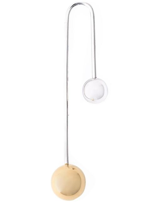 Asherali Knopfer   Metallic 18kt White Gold Interchangeable Bar Earring   Lyst