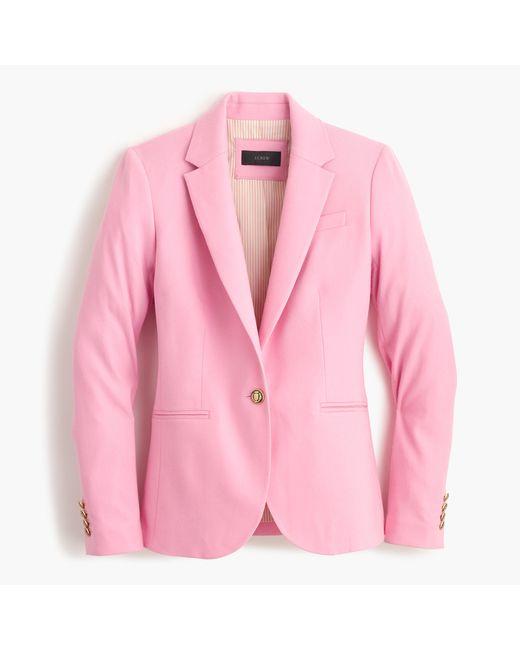 J.Crew   Pink Campbell Blazer In Wool Flannel   Lyst
