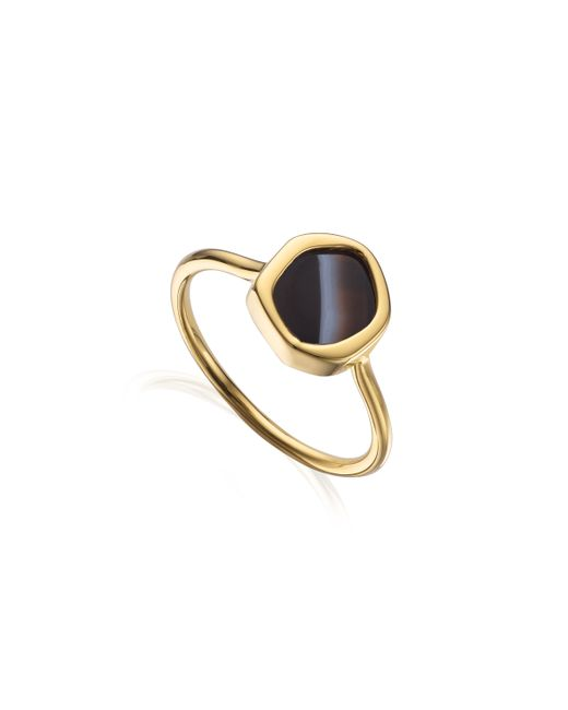 Monica Vinader | Black Atlantis Gem Mini Stacking Ring | Lyst