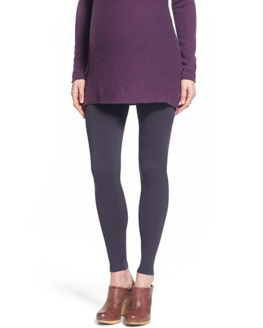 Tees by Tina | Gray Stretch-Jersey Maternity Leggings  | Lyst