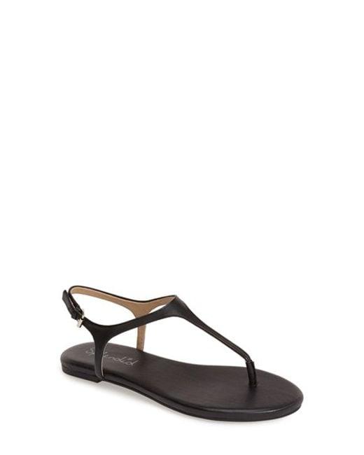 Splendid | Black 'mason' Sandal | Lyst