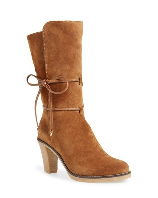 Johnston & Murphy | Brown 'jeanie' Mid Calf Boot | Lyst