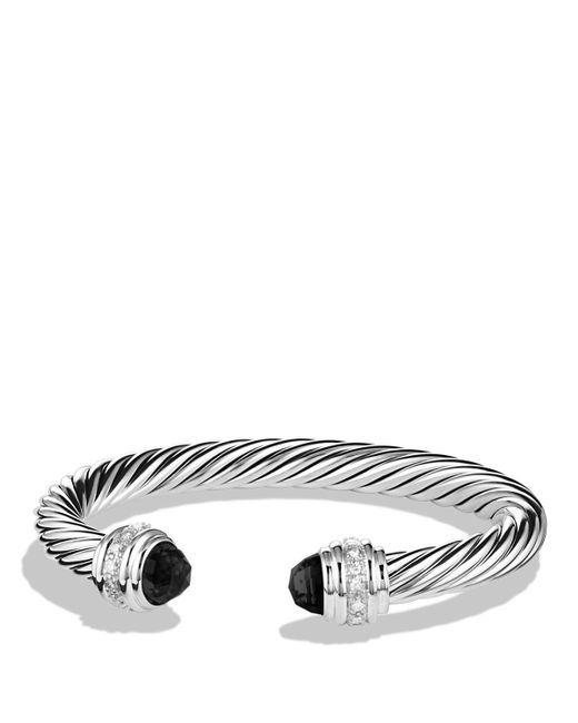 David Yurman | Cable Classics Bracelet With Black Onyx & Diamonds | Lyst