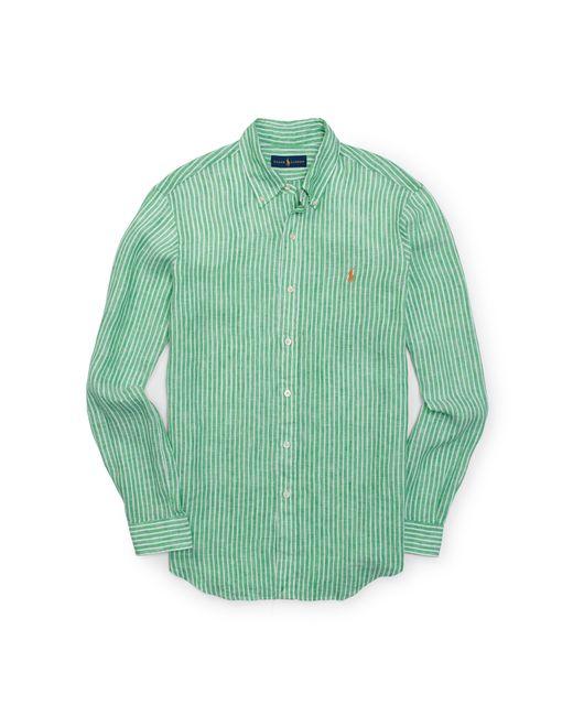 Polo Ralph Lauren   White Striped Linen Shirt for Men   Lyst