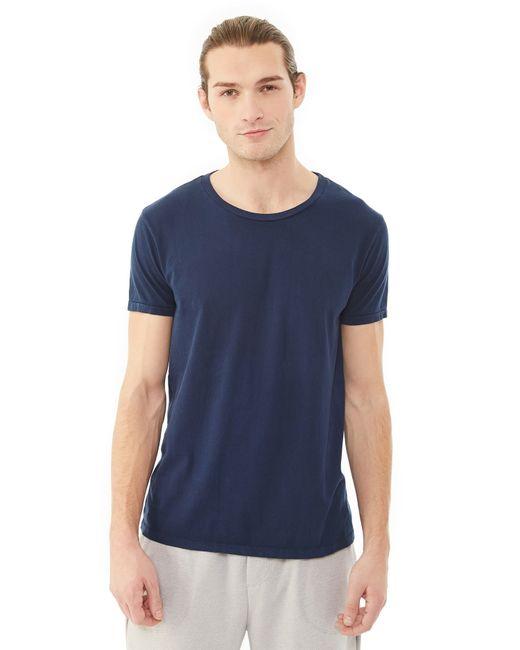 Alternative Apparel | Blue Heritage Garment Dyed Crew T-shirt | Lyst