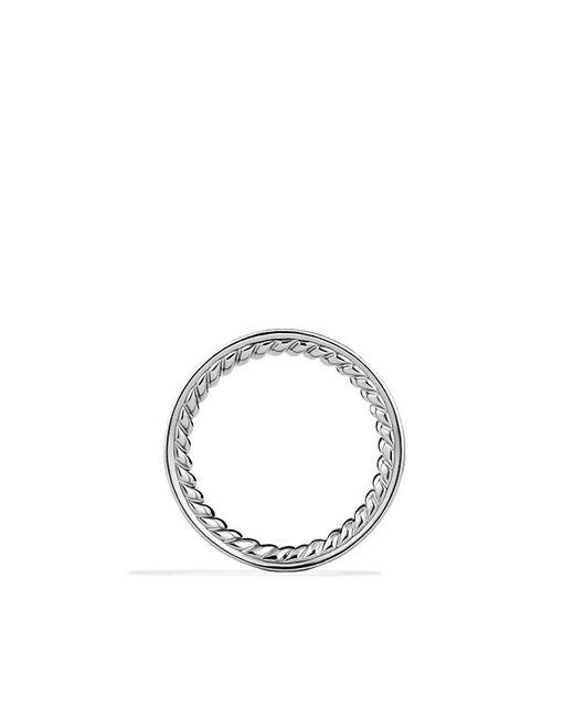 David Yurman | Metallic Wedding Band In Platinum With Diamonds | Lyst