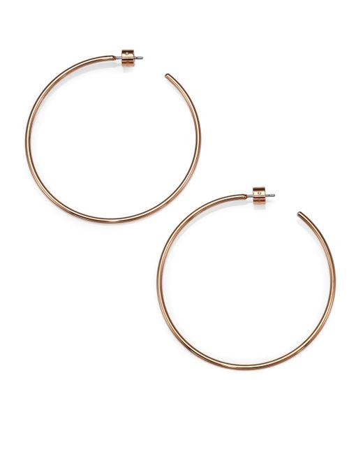 Michael Kors   Pink Brilliance Statement Rose Goldtone Hoop Earrings/1.75   Lyst