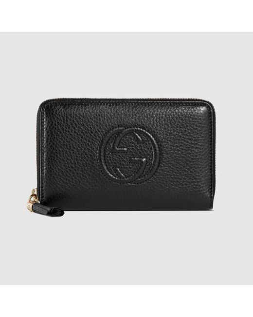 ef9cdf5fe289c4 Gucci Black Soho Zip Around Wallet | Stanford Center for Opportunity ...