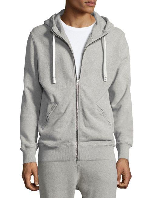 Zip Hoodie Knitting Pattern : Iro Clevy Zip-front Knit Hoodie in Gray for Men Lyst
