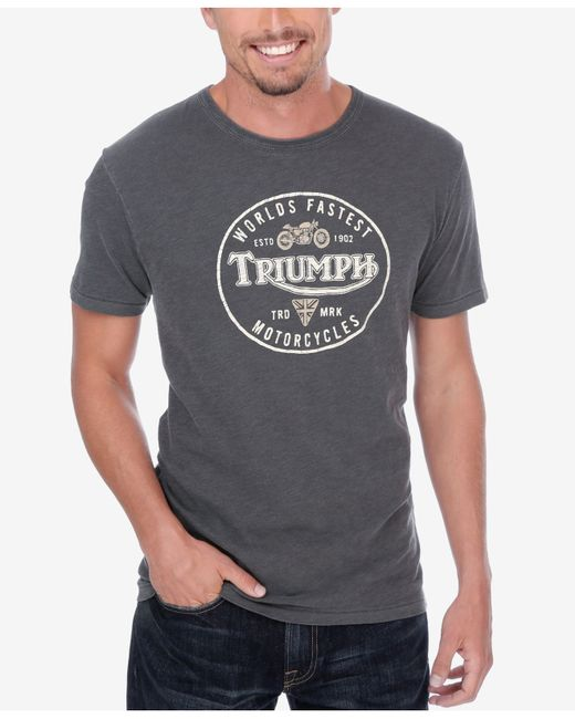 Lucky Brand Men 39 S Triumph Shield Graphic Print T Shirt In