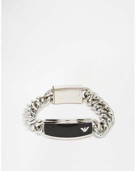 Emporio Armani | Black Eagle Bracelet - Silver for Men | Lyst